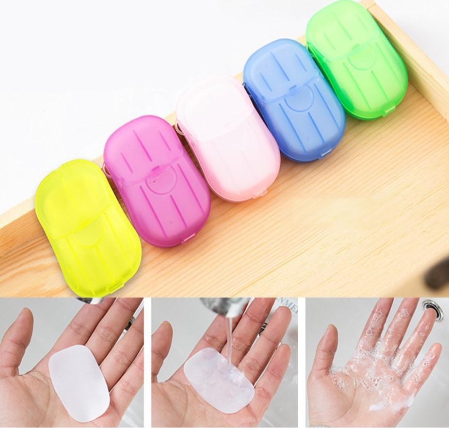 portable hand-washing soap paper (5 packs/100 sheets) 4