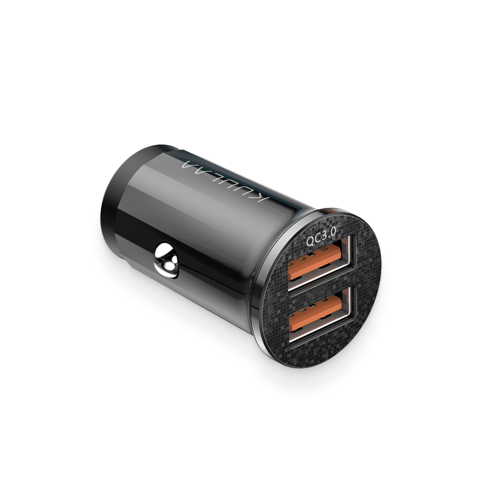 black quick-charge dual-usb charger port 2