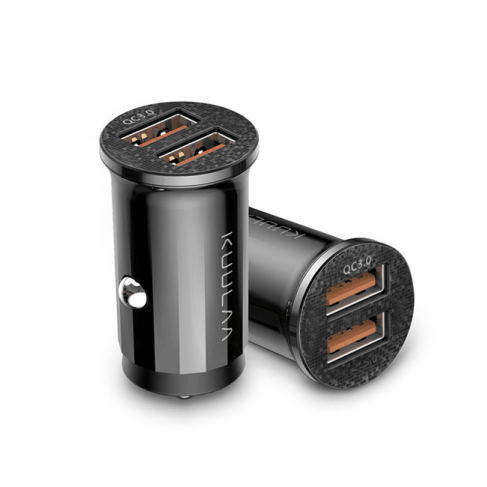 black quick-charge dual-usb charger port 5