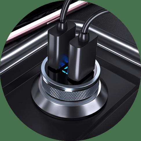 intelligent digital volt dual-usb charger port 5