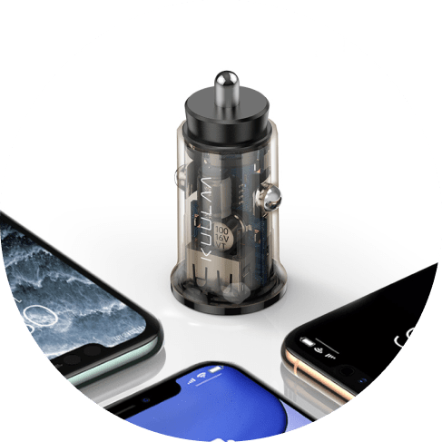transparent 3.4a dual-usb charger port 4