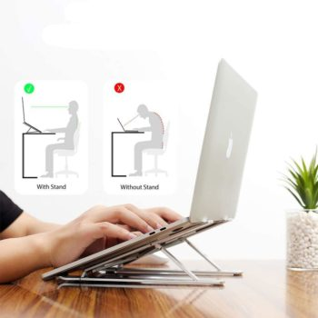 adjustable aluminum laptop stand 9