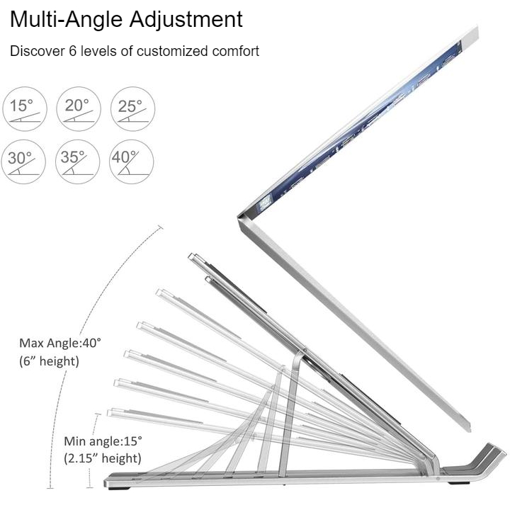 adjustable aluminum laptop stand 3