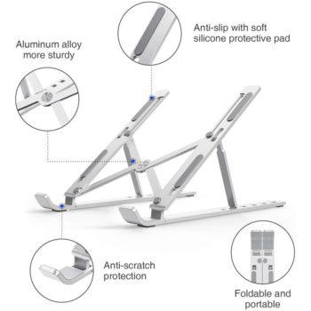 adjustable aluminum laptop stand 12