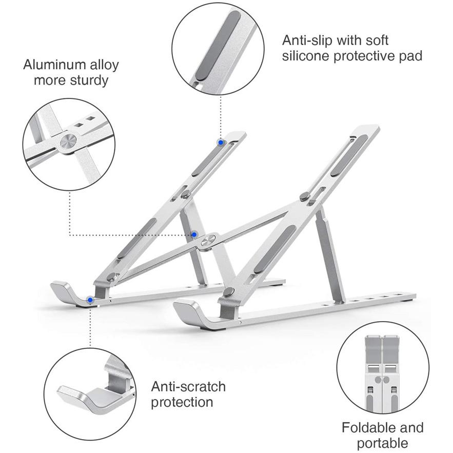 adjustable aluminum laptop stand 5