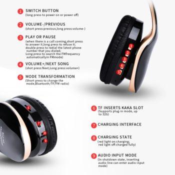 wireless foldable gaming headphones 7