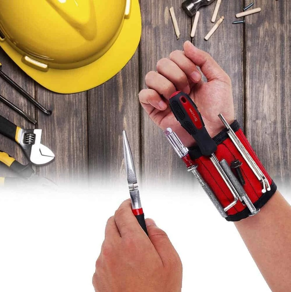 magnetic wristband tool holder